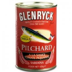 GLENRYCK PILCHARD SARDINE A LA SAUCE TOMATE EPICE 400G